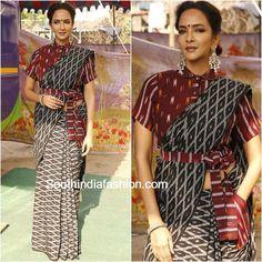 Cotton blouse designs - The handmade craft Drape Sarees, Saree Draping Styles, Saree Styles, Blouse Styles, Silk Sarees, Trendy Sarees, Stylish Sarees, Saree Dress, Saree Blouse