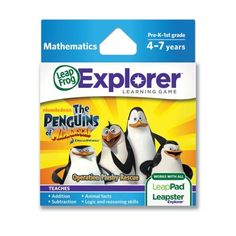 LeapFrogThe Penguins of Madagascar Operation Plushy Rescue Learning Game works with LeapPad Tablets and LeapsterGS *** Want additional info? Click on the image.