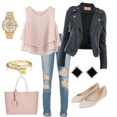edgy and casual by foreverfearliss on Polyvore featuring polyvore fashion style Chicwish Topshop Gucci Yvel Michael Kors Bling Jewelry