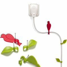 Amazon.com: Cable Clips Bird and Leaves: Home & Kitchen