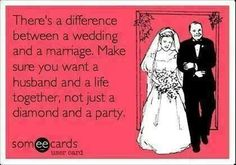 I have seen this and it rarely works. Focus on what really matters and the seriousness of the vow, not the wedding.