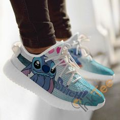 Cute Disney Outfits, Disney Shoes, Disney Painted Shoes, Vans Customisées, Adidas Shoes, Sneakers Nike, Basket Style, Cute Stitch, Nike Shoes Air Force