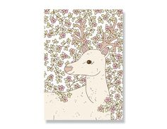 Entwined Stag A4 Illustration Print
