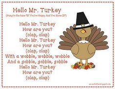 children's songs about thanksgiving November Thanksgiving, Thanksgiving Preschool, Fall Preschool, Thanksgiving Poems, Preschool Class, Thanksgiving Songs For Preschoolers, Holiday Poems, Preschool Library, Thanksgiving Lunch
