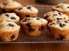 Double Blueberry Muffins Recipe {My favorite blueberry muffins! You mash some of the blueberries and add them to the batter. So good.}