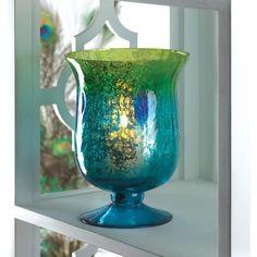 Mediterranean Pedestal Candle Vase