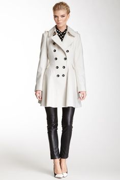 Double Breasted Wool Blend Coat by Via Spiga on @HauteLook