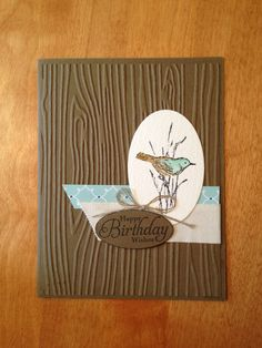 Stampin' Up! - Simply Sketch. I love this hostess stamp set. Great card to make at a class.