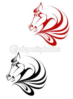 koń tatuaż — Ilustracja stockowa #3946141