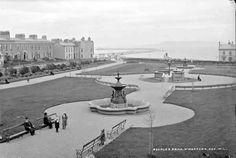 Original Kingstown park layout (Dun Laoghaire) Michael Church, St Michael, Old Pictures, Old Photos, Vintage Photos, Photo Engraving, Dublin City, Dublin Ireland, Book Of Life