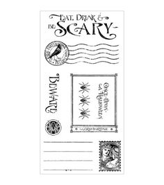 Graphic 45 An Eerie Tale Cling Stamps-Grim Fairytale