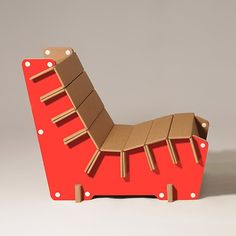 Here you are the #red version of #Anita, our #cardboard armchair! #design #home #ecoandyou