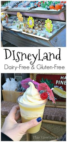 Doing Disneyland dairy-free gluten-free is actually very simple and delicious! You can enjoy so many of the nostalgic park treats with everyone else. Disneyland makes a great family vacation and the staff is fantastic about accommodating food allergies. | gluten free disneyland | dairy free disneyland | how to enjoy disneyland allergen free | allergen free disneyland | disneyland tips and tricks || This Vivacious Life