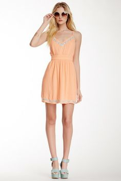 Pink Owl Keyhole Embroidered Dress by Assorted on @HauteLook