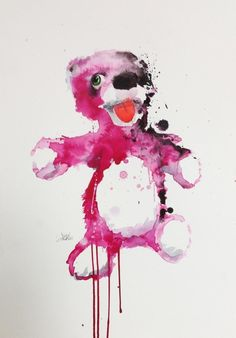 Breaking Bad Teddy Bear Illustration. #watercolor