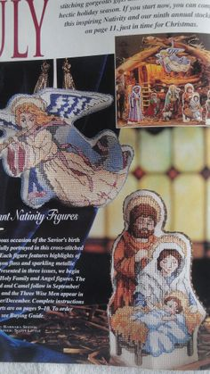 Nativity Holy Family Christmas Cross Stitch Charts Complete Set 3 Magazines 1987-1989