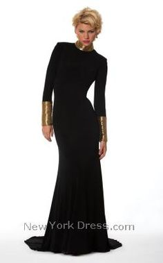 Black/silver dress, and stand up straight.  Cute with my new haircut. Nika 9075 - NewYorkDress.com