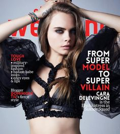 Cara Delevingne on the cover of the August issue of Style Weekend magazine. Military Inspired Fashion, Fashion Magazine Cover, Tough Love, Cara Delevingne, My Idol, Supermodels, Fashion Models, Vogue, Actresses