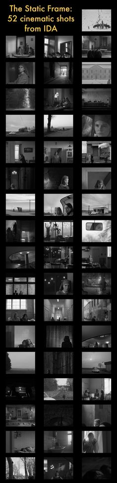 These Static Frames from Oscar Contender 'Ida' Show Why Composition is King Polish drama called Ida, shot in stunning high-contrast black and white in a aspect ratio by Lukasz Zal and Ryszard Lenczewski, is perhaps the most surprising choice of all, a Cinematic Photography, Film Photography, Movie Shots, Film Studies, Film Inspiration, Film School, Digital Film, Luz Natural, Thing 1