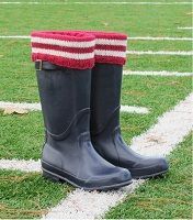 School Spirit Boot Sock, Liner, and Cuff Knitting Pattern Download