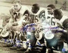 Los Angeles Rams Fearsome Foursome. Game time when players look like they were men of football.