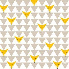 TRIANGLE HIDDEN FOXES Art Print