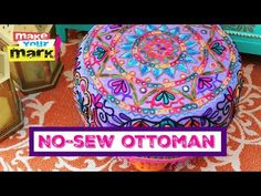 37 Ideas For Sewing Table Makeover Diy Ottoman Bohemian Room Decor, Diy Living Room Decor, Anthropologie Pillows, Diy Pouf, Tie Crafts, Fabric Crafts, Diy Ottoman, Floor Pouf, Diy Cushion