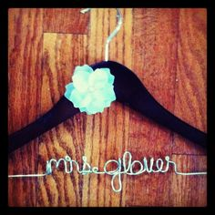 Mrs Hanger with flower by HeartfeltHangers on Etsy, $19.00