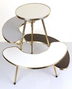 1950s 60s Tripod Plant Stand 70s Mid Century Stilnovo Vintage Table Storage 50s | eBay