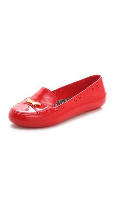Melissa + Jason Wu Moon Driver Flats: Jelly Loafers! #jasonwu