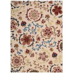 Nourison Crochet Light Ivory 5 ft. x 7 ft. Wool Area Rug-122964 at The Home Depot