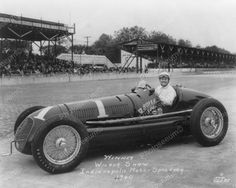 Wilbur Shaw Indianapolis Speedway 1940 Vintage 8x10 Reprint Of Old Photo