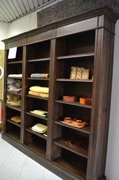 Libreria legno massello naturale