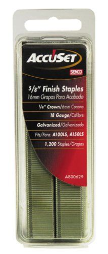 Senco A800629 18 Gauge by 1/4-inch Crown by 5/8-inch Leg Electro Galvanized Staples (1,200 per box) -- Read more reviews of the product by visiting the link on the image.