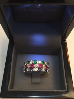 Sapphire, Emerald or Ruby - which is your favourite? #thediamondstoreuk #eternityring #ring #jewellery #emerald #sapphire #ruby #diamonds