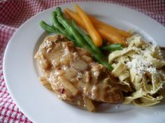 From 101 Things To Do With A Slow Cooker, this is a simple meal and the sauce is good over mashed potatoes.