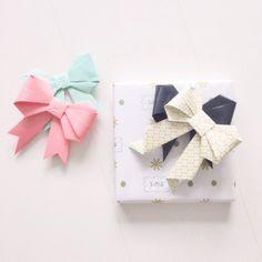 DIY paper bow   www.metdehand.nl