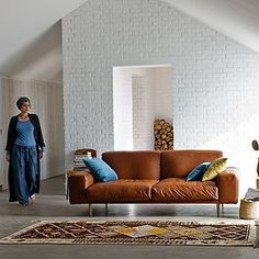 Colorado Modern Leather Sofa