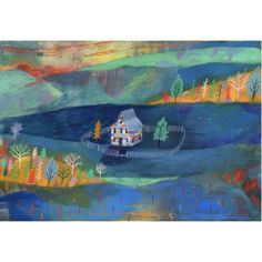 House in the hollow A4 print by Chris Hagan