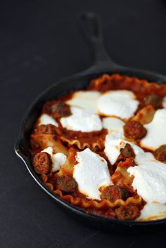 30 Minute Skillet Lasagna~