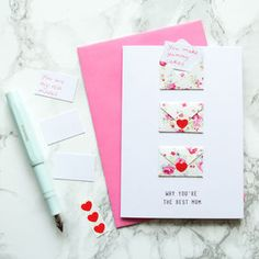 Mini Envelope Best Mum Card - cards & wrap