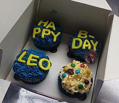 Le gusta el fútbol? Regálale en su cumpleaños estos cupcakes personalizados.