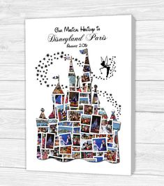 Personalised Disney Castle Canvas, Print, Framed Print or Digital Copy