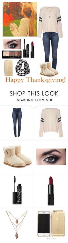 """""""Happy thanksgiving!🦃🍁🍂"""" by agambilltn ❤ liked on Polyvore featuring beauty, J Brand, Glamorous, UGG Australia and NARS Cosmetics"""