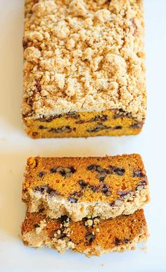 Pumpkin Bread with Cinnamon-Maple Walnuts and Crumb Topping