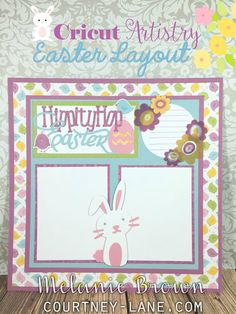 Cricut Artistry Easter Layout