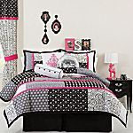 This is the bedding I ordered on Cyber Monday for the Girls for Christmas since they are now sharing a room.  I hope it looks good in person. The walls are pink and I'm going to get pink throw pillows instead of these.
