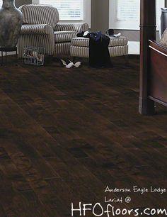 Anderson Eagle Lodge, Lariat hand-scraped maple hardwood. Available at HFOfloors.com.