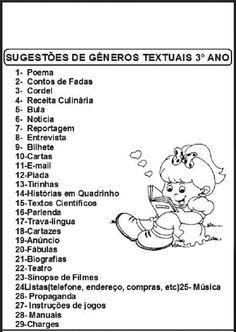 Gêneros Textuais: Atividades para imprimir e colorir - SÓ ESCOLA