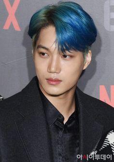 "191202 Underground"" Netflix fan event with EXO Kai Exo, Baekhyun, Exo Korean, Kim Jongin, Latest Instagram, Actor Model, What Is Life About, Blue Hair, Beleza"